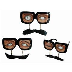 Funny Glasses - Ochelari haiosi de petrecere cu mustata, OOTB 18/3929, 1 buc