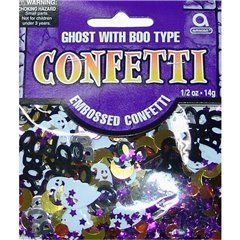 Ghost with Boo Type Party Confetti Bag, 14 g, Amscan 362012