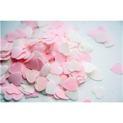 Confetti cu inimioare albe si roz pentru party si evenimente, Amscan 4009, Punga 70g