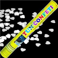 White Hearts Confetti Shooter, 40 cm, Radar TUN.8240.WH, 1 piece