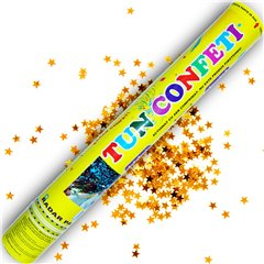 Gold Stars Confetti Shooter, 40 cm, Radar TUN.8240.GS, 1 piece