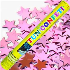 Pink Stars Confetti Shooter, 40 cm, Radar TUN.8240.PS, 1 piece