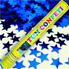 Blue Stars Confetti Shooter, 40 cm, Radar TUN.8240.BS, 1 piece