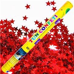 Tun de confeti 60 cm cu stelute rosii, Radar TUN.8260.RS, 1 buc