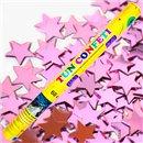 Tun de confeti 60 cm cu stelute roz, Radar TUN.8260.PS, 1 buc