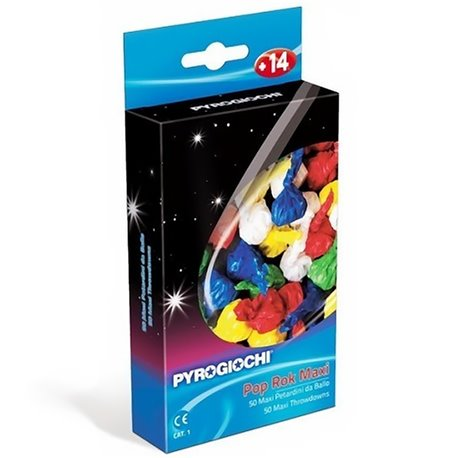 Pocnitori multicolore pentru Revelion, Pyrogiochi PG41036, Set 50 buc