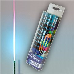 Artificii de tort cu flacara albastra 12 cm, 41030, set 3 buc