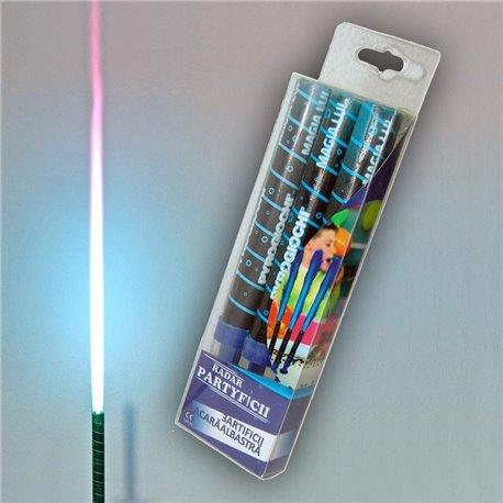 Artificii de tort cu flacara albastra 12 cm, R41027, set 3 buc
