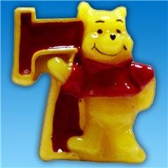 Lumanare aniversara Cifra 7 pentru tort cu Winnie the Pooh, Amscan RM551081, 1 buc