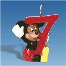 Lumanare aniversara Cifra 7 pentru tort cu Mickey Mouse, Amscan RM551106, 1 buc
