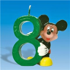 Mickey Mouse Birthday Cake Candle Number 8, Amscan RM551107, 1 Piece