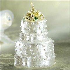 Wedding Birthday Cake Candle, White, Amscan 178202, 1 Piece