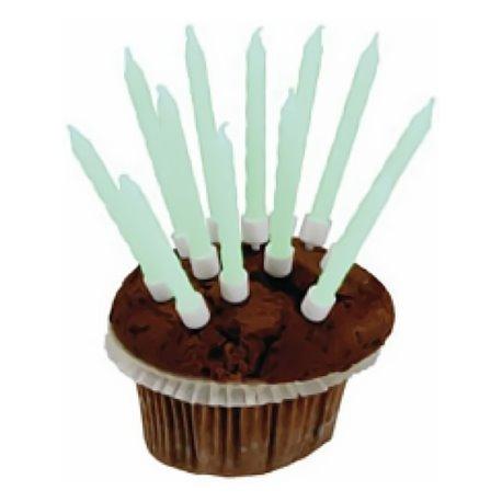 Lumanari aniversare fluorescente pentru tort, Amscan RM550330, Set 10 buc