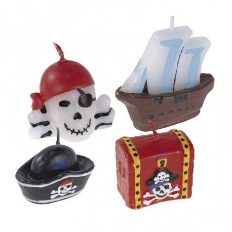 Lumanari aniversare pentru tort cu Pirati, Amscan RM551283, Set 4 buc