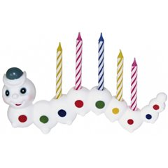 Candle worm w.7 candles, Amscan RM5055, 1 Piece