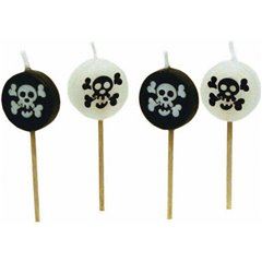 Mini figure candles Pirates, Amscan RM551519, Pack of 8 Pieces
