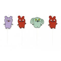 Ugly Dolls Mini Figurene Candles, Amscan RM552451, Pack of 4 Pieces