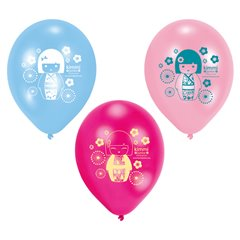 """9"""" Printed Latex Balloons, Kimmi Junior Assorted, Amscan 450276, Pack of 6 pieces"""