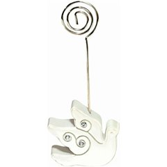 Dove Place Card Holder 10.8cm, Amscan 451025, 1 buc