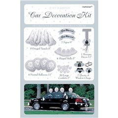 Wedding Car Decorating Kit, Amscan 246855, Pack of 71 pieces