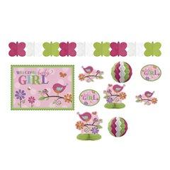 Tweet Baby Girl Decorating Kit, Amscan 241119, Pack of 10 pieces