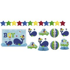 Ahoy Baby Blue Decorating Kit, Amscan 241117, Pack of 10 pieces