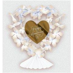 Ornament Happy Anniversary pentru decorare masa, Amscan 249648, 1 buc