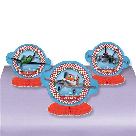 Decoratiuni pentru masa Planes - 16 cm, Amscan 996872, Set 3 buc