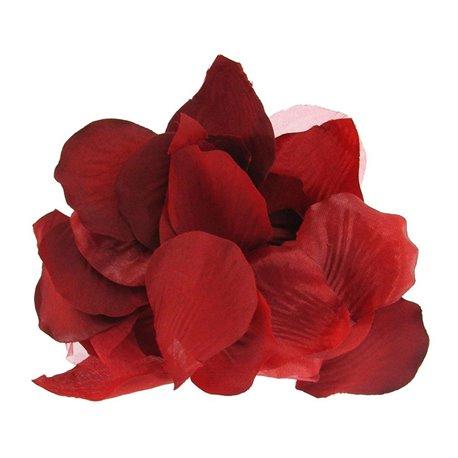 Petale trandafir artificiale pentru decoratiuni, culoare rosu, Amscan 551509, Set 100 buc
