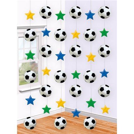 Ornament fotbal tip perdea pentru decor petrecere, Amscan 679877, 1 buc
