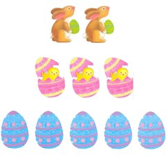 Easter Mini Glitter Cutout Assortment, Amscan 199813, Pack of 10 pieces