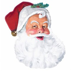 Santa Face Bulk Cut-outs 66cm, Amscan 190247, 1 piece