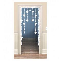 Decor usa cu inimioare albe pentru petrecere, Amscan 671059, 1 buc