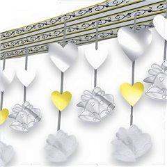 Wedding Hearts/Bells - 10ft Ceiling Decoration, Amscan 679639, 1 piece