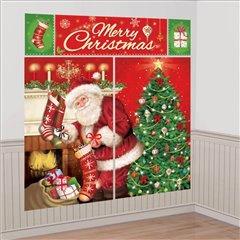 Kit decoratiuni de perete pentru Craciun, Amscan 670203, Set 5 piese
