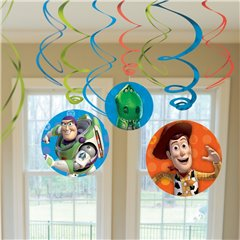 Toy Story Hanging Swirls, Amscan 996115, Pack of 6 pieces