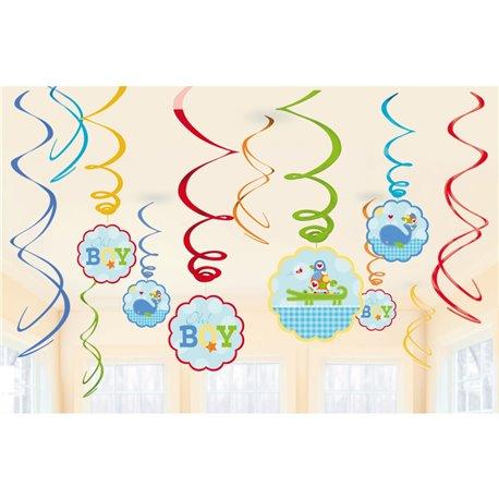 Serpentine decorative Baby Blue pentru petrecere, Amscan 671117, Set 12 buc