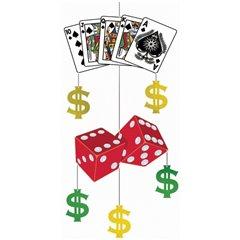Ornament Casino pentru decor petreceri, Amscan 677047, 1 buc