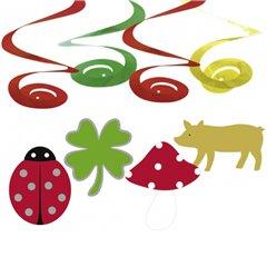 Serpentine decorative Good Luck pentru petrecere, Amscan 400231, Set 4 buc