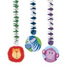 Serpentine decorative Jungle Animals pentru petrecere, Amscan 199951, Set 3 buc
