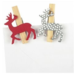 Deco clips Alpine Style for Christmas, Amscan RM552260, Pack of 6 pieces