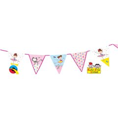 Ballerina Party Paper Flag Bunting Banner - 3 m, Qualatex 12710, 1 piece