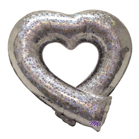 Balon Folie Figurina Holographic Open Heart - 74x69 cm, Amscan