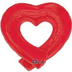 Balon folie figurina inima rosie - 74x69cm, Amscan 14932
