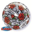 "Bubble Balloon 22""/56 cm, I love you Red Rose, Qualatex, 27405"