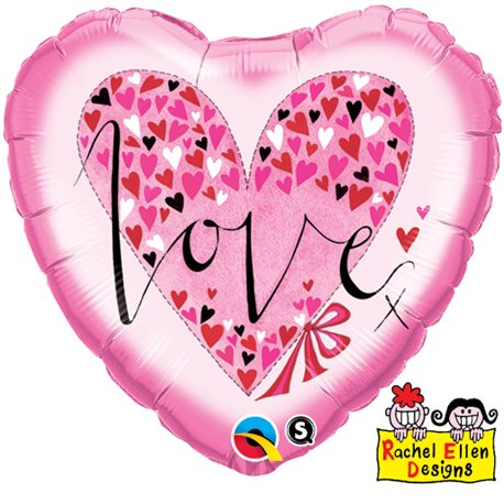 Balon Folie 45 cm Inima - Love Little Hearts, Qualatex 61881