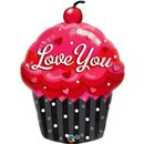 Balon Folie figurina Love You Cupcake - 51x74 cm, Qualatex 40143