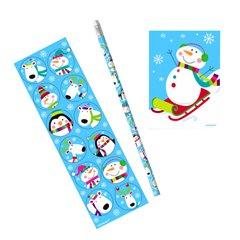 Joyful Snowman Santa Favour Set, Amscan 390702