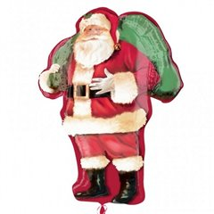 Santa Claus Shape Foil Balloon - 86 cm, Amscan 25143