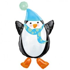 Folie figurina pinguin Happy Holidays - 45x81 cm, Amscan A11943